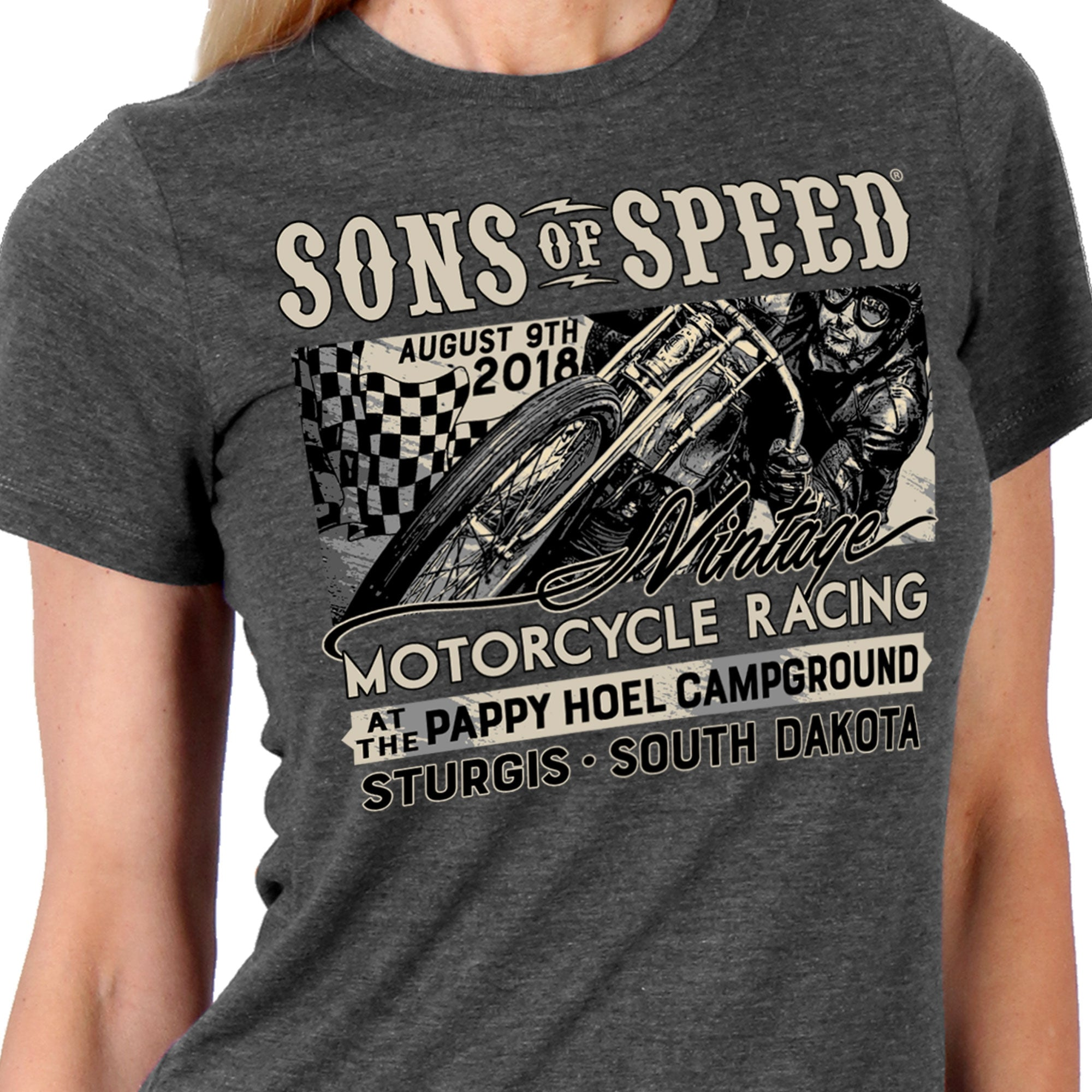 Official 2018 Sons of Speed Sturgis Ladies Race Shirt
