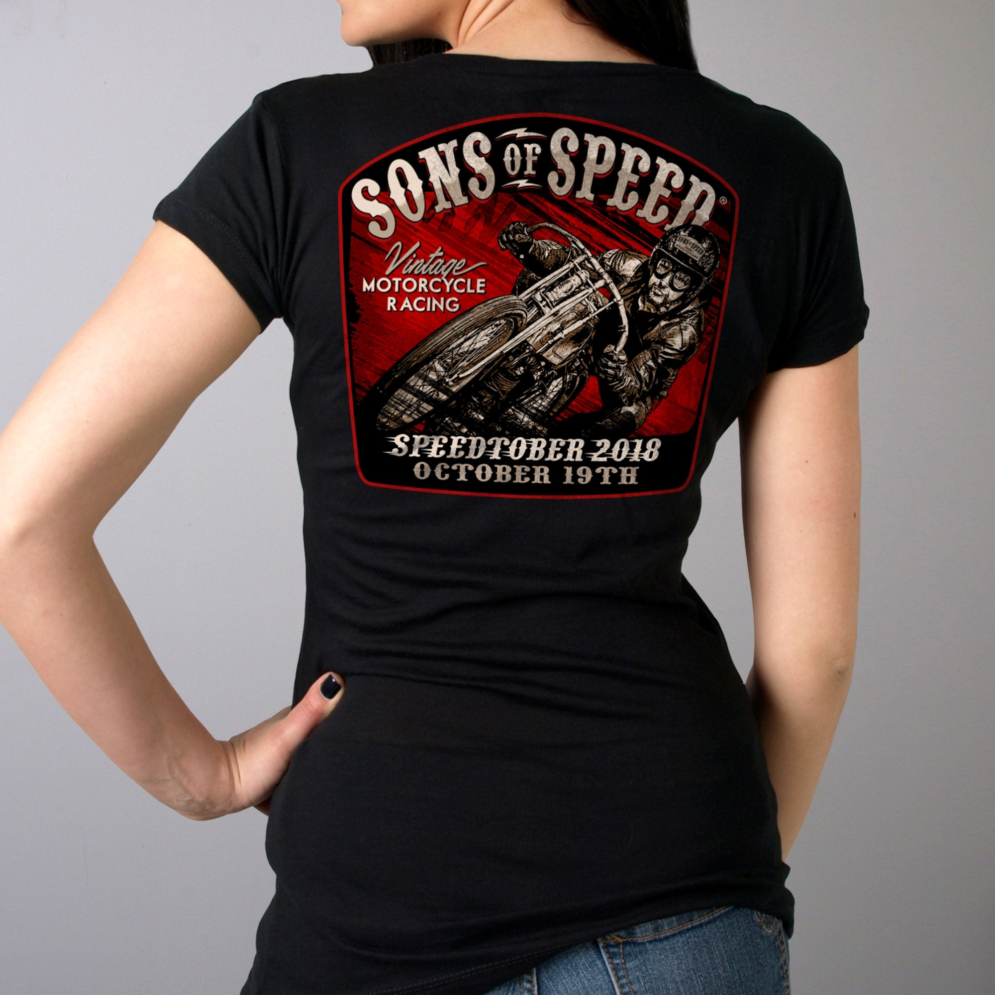 Official 2018 Sons of Speed Speedtember Ladies Race Shirt