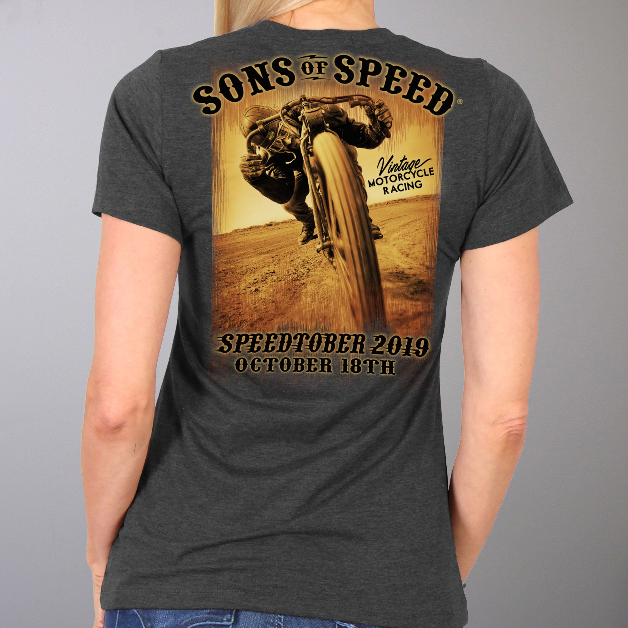 Official 2019 Sons Of Speed Fall Ladies Short Sleeve