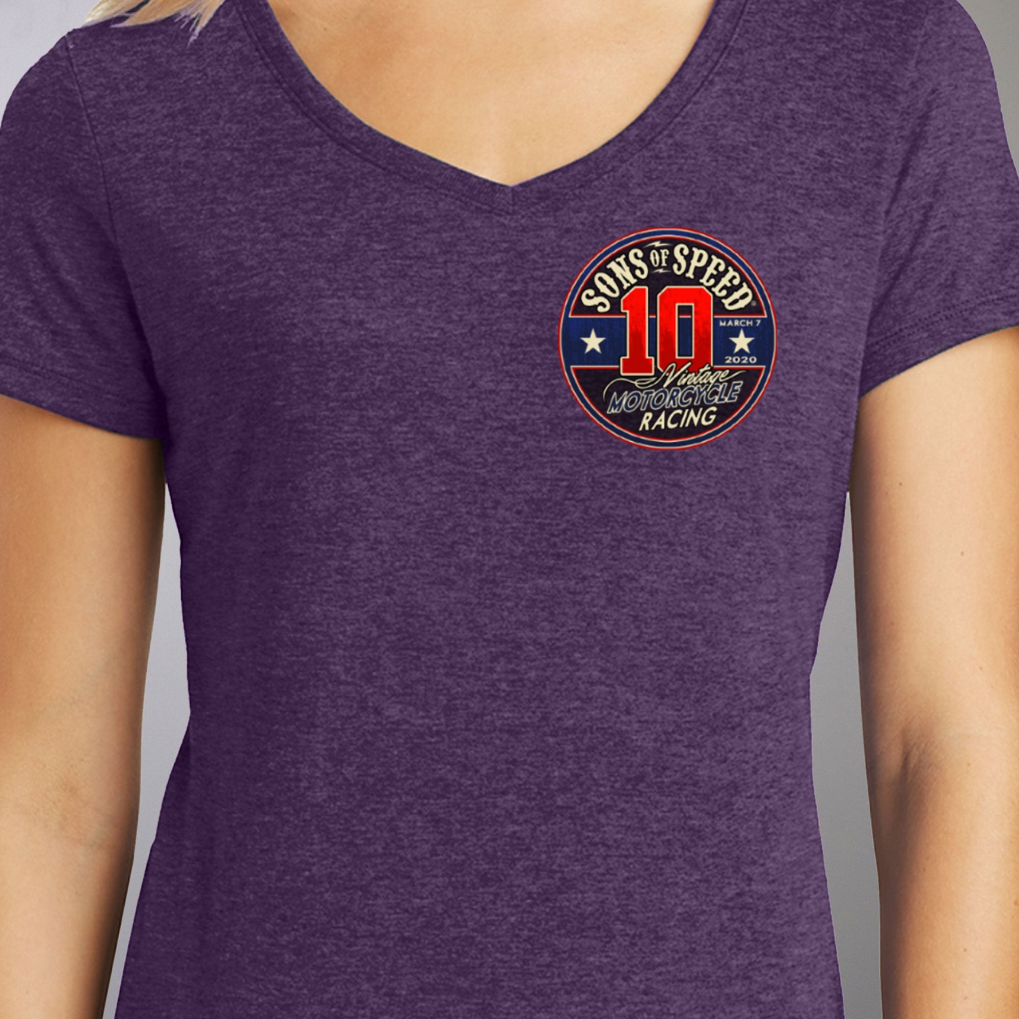 Official 2020 Sons of Speed Vintage Race Ladies T-Shirt