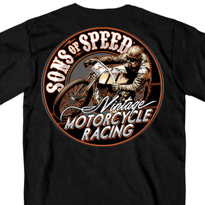 Official Sons of Speed Vintage Motorcycle Racing T-Shirt