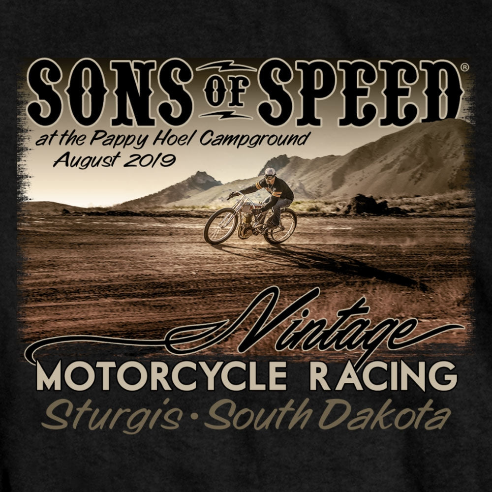 Official 2019 Sturgis Sons Of Speed Race T-Shirt