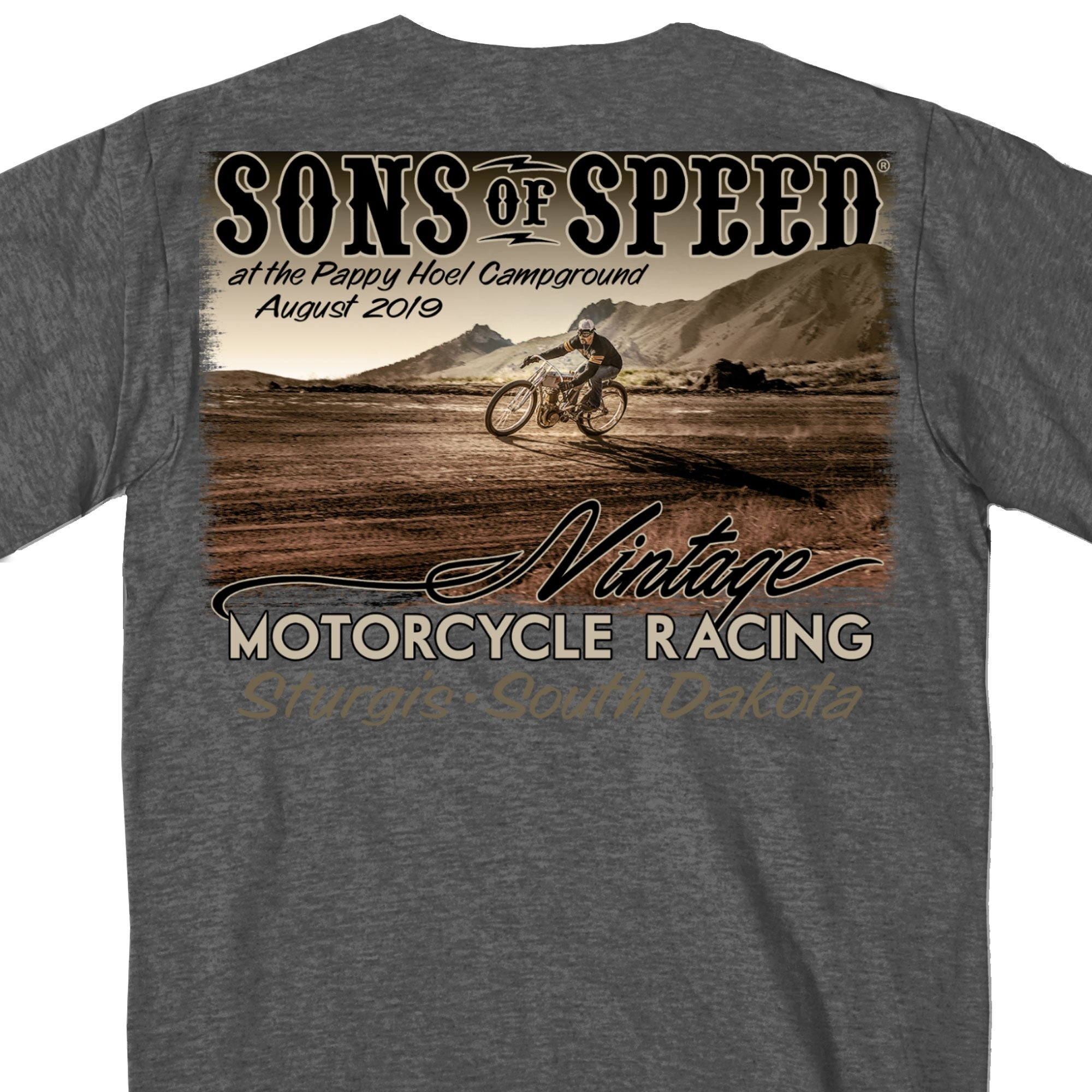 Official 2020 Sons of Speed Heather Charcoal