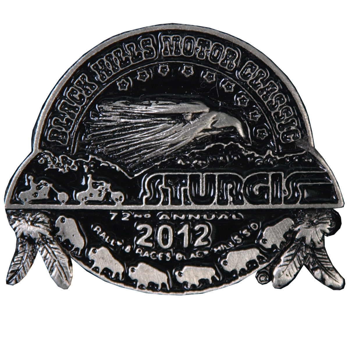 Official 2012 Sturgis Motorcycle Rally Composite Pin