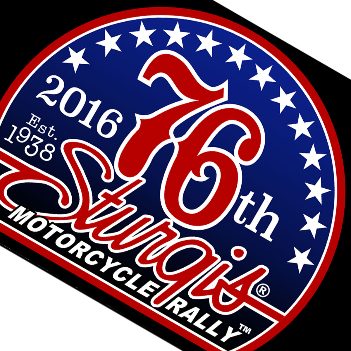 Official 2016 Sturgis Motorcycle Rally 76th Logo Flag