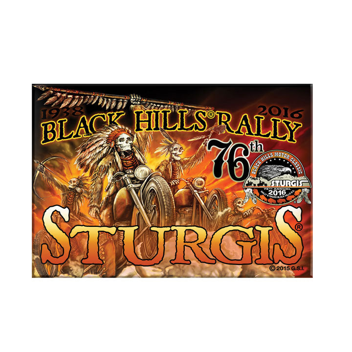 Official 2016 Sturgis Black Hills Rally #1 Design Indian Storm Magnet