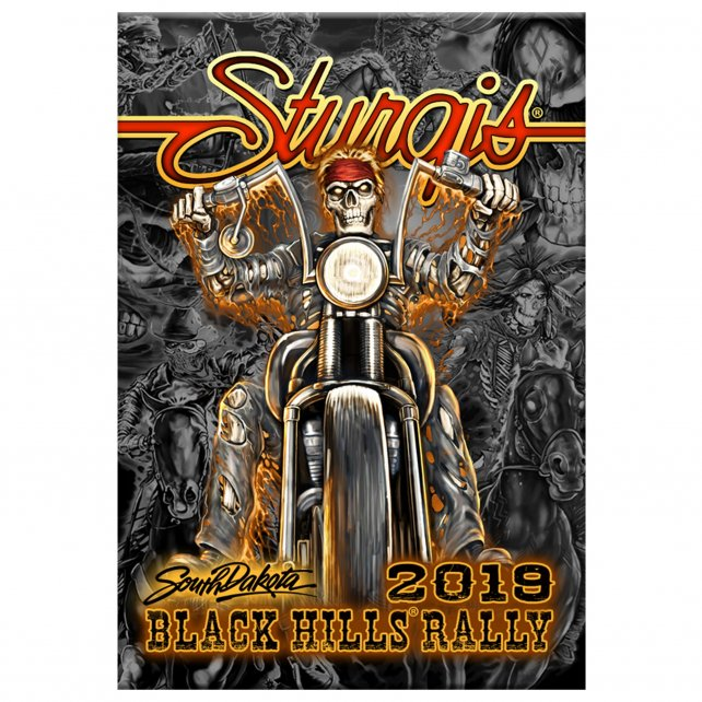 Official 2019 Sturgis Motorcycle Rally #1 Design Wild West Magnet