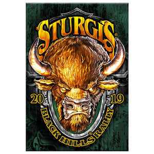 Official 2019 Sturgis Motorcycle Rally Buffalo Crazy Magnet