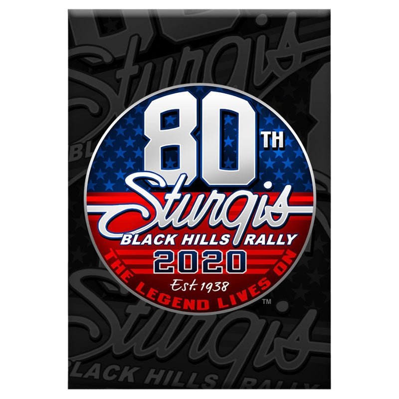 Official 2020 Sturgis Motorcycle Rally 80th Anniversary Logo Magnet