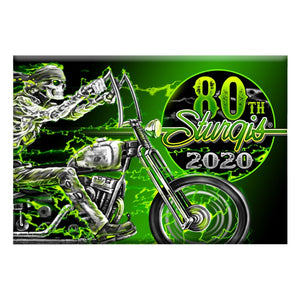 Official 2020 Sturgis Motorcycle Rally #1 Design Skeleton Rider Magnet