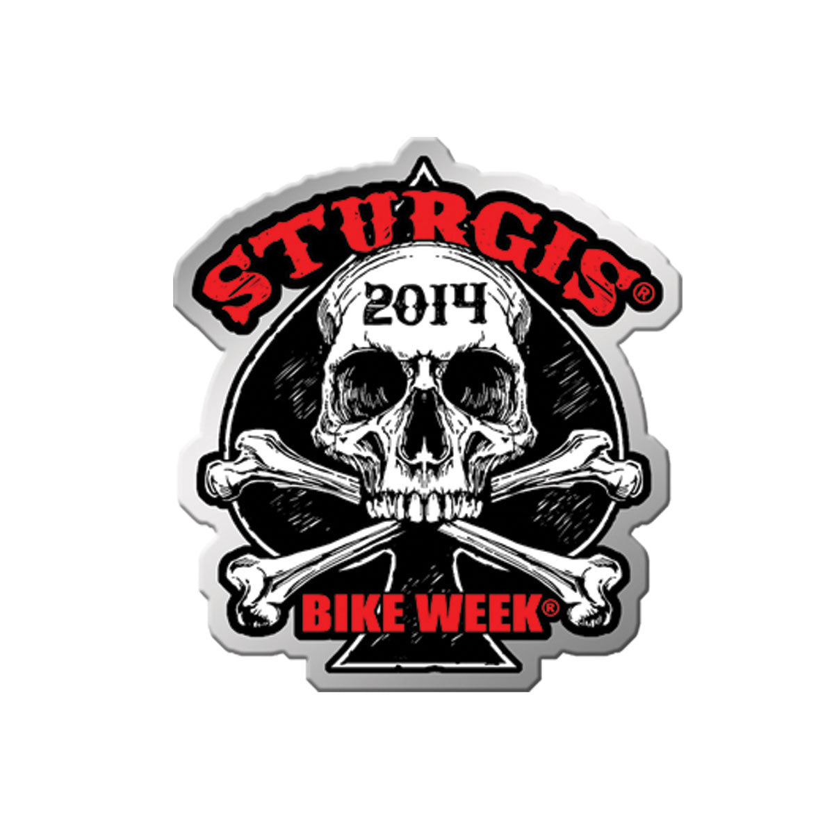 Official 2014 Sturgis Motorcycle Rally Human Skull Pin