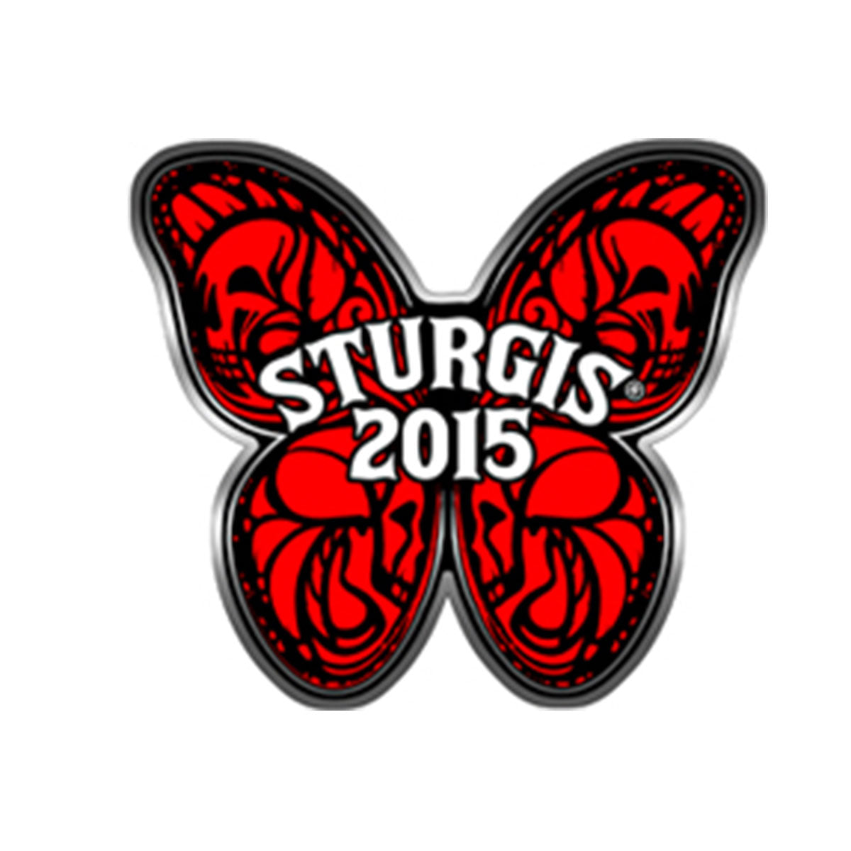 Official 2015 Sturgis Motorcycle Rally Butterfly Pin