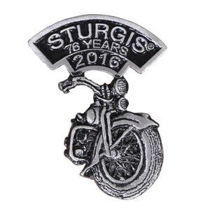 Official 2016 Sturgis Motorcycle Rally Laid Back Bike Pin