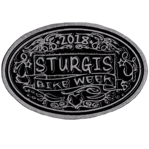 Official 2018 Sturgis Bike Week Chalk Lines Oval Pin