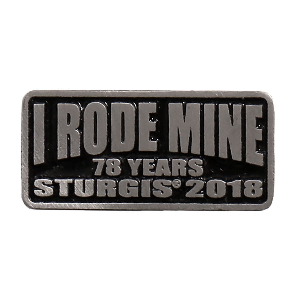 Official 2018 Sturgis Motorcycle Rally I Rode Mine Pin