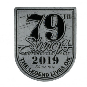 Official 2019 Sturgis Motorcycle Rally 79TH Logo Pewter Pin