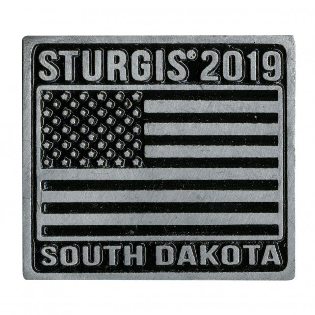 Official 2019 Sturgis Motorcycle Rally Flag Pin
