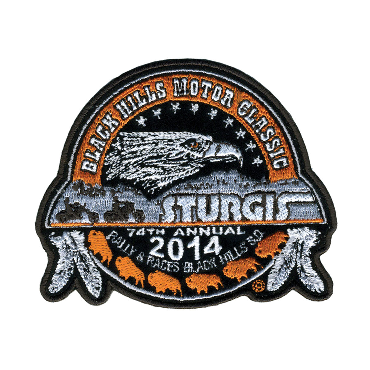 "Official 2014 Sturgis Motorcycle Rally 12"" Composite Logo Patch"