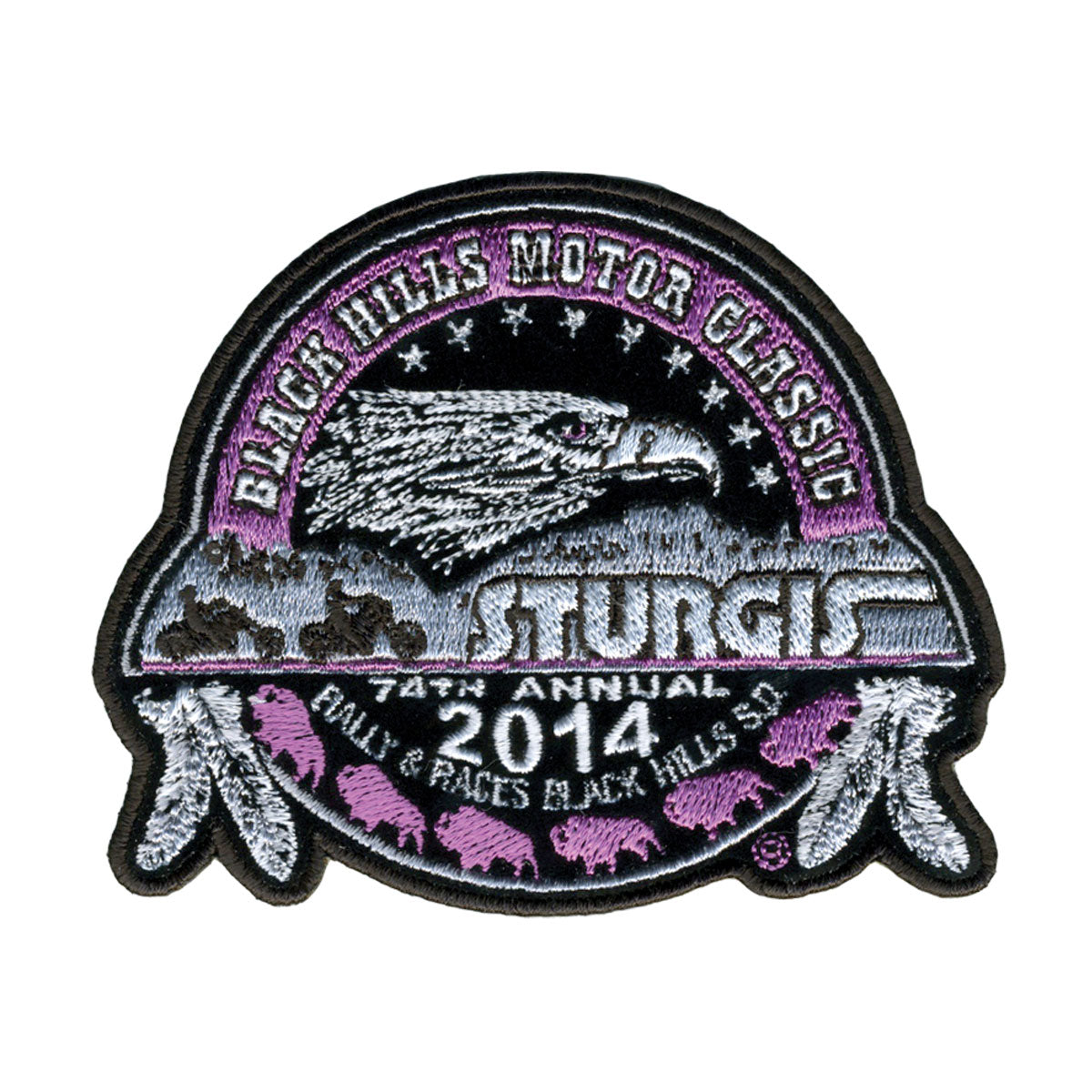 "Official 2014 Sturgis Motorcycle Rally 12"" Composite Ladies Patch"