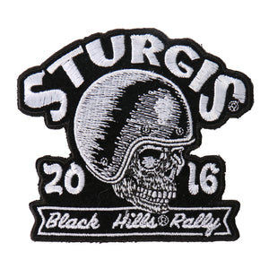 Official 2016 Sturgis Motorcycle Rally Skull Racer Patch