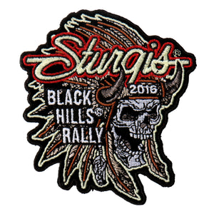 Official 2016 Sturgis Motorcycle Rally Indian Chief Patch