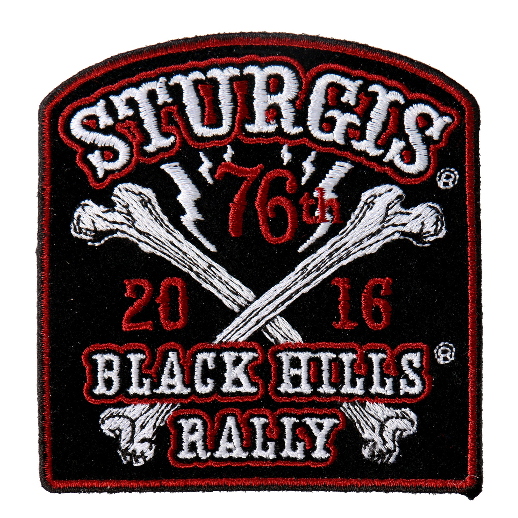 Official 2016 Sturgis Motorcycle Rally Big Bones Patch