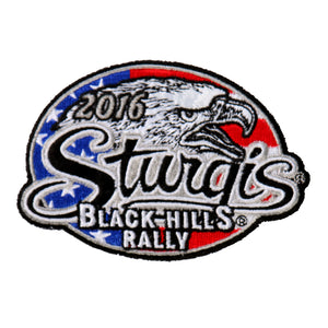 Official 2016 Sturgis Motorcycle Rally Freedom Eagle Patch