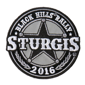 Official 2016 Sturgis Motorcycle Rally Sheriff Badge Patch