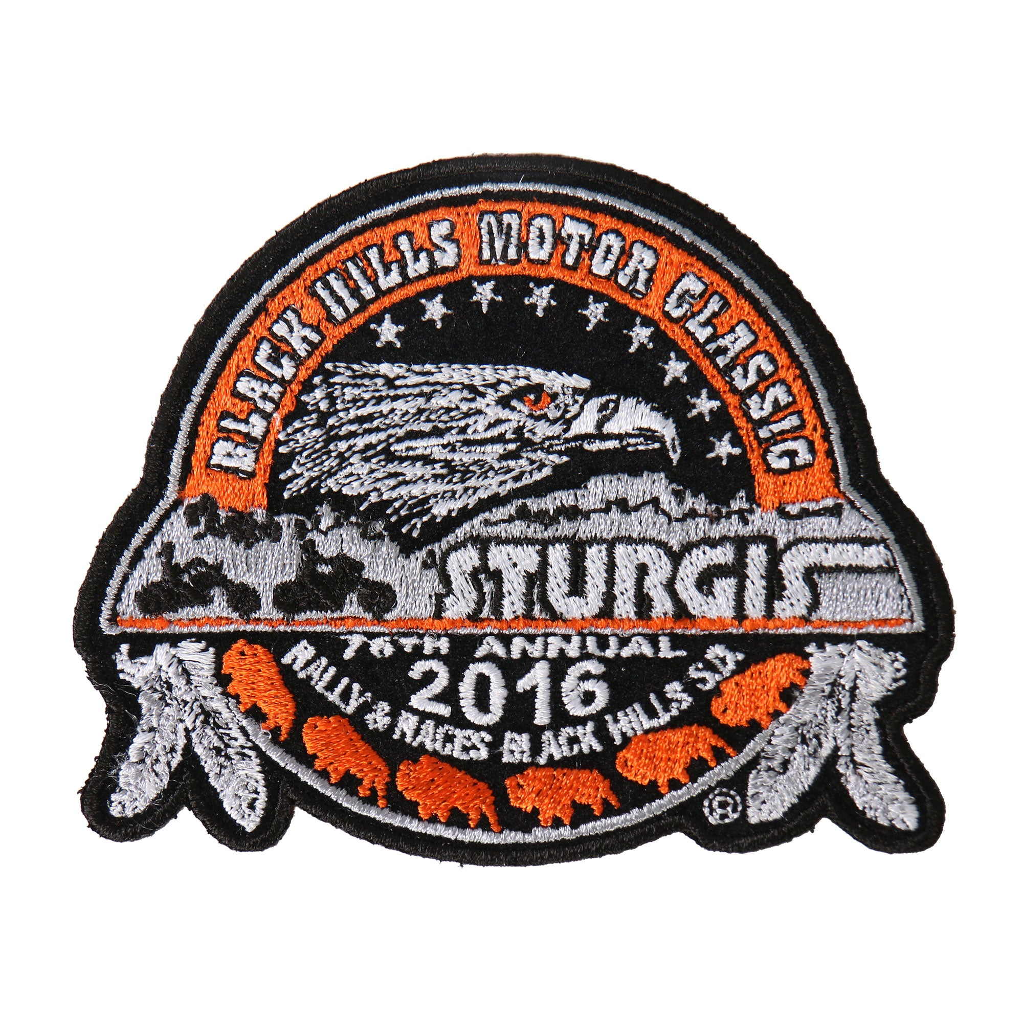 Official 2016 Sturgis Motorcycle Rally Composite Men's Patch