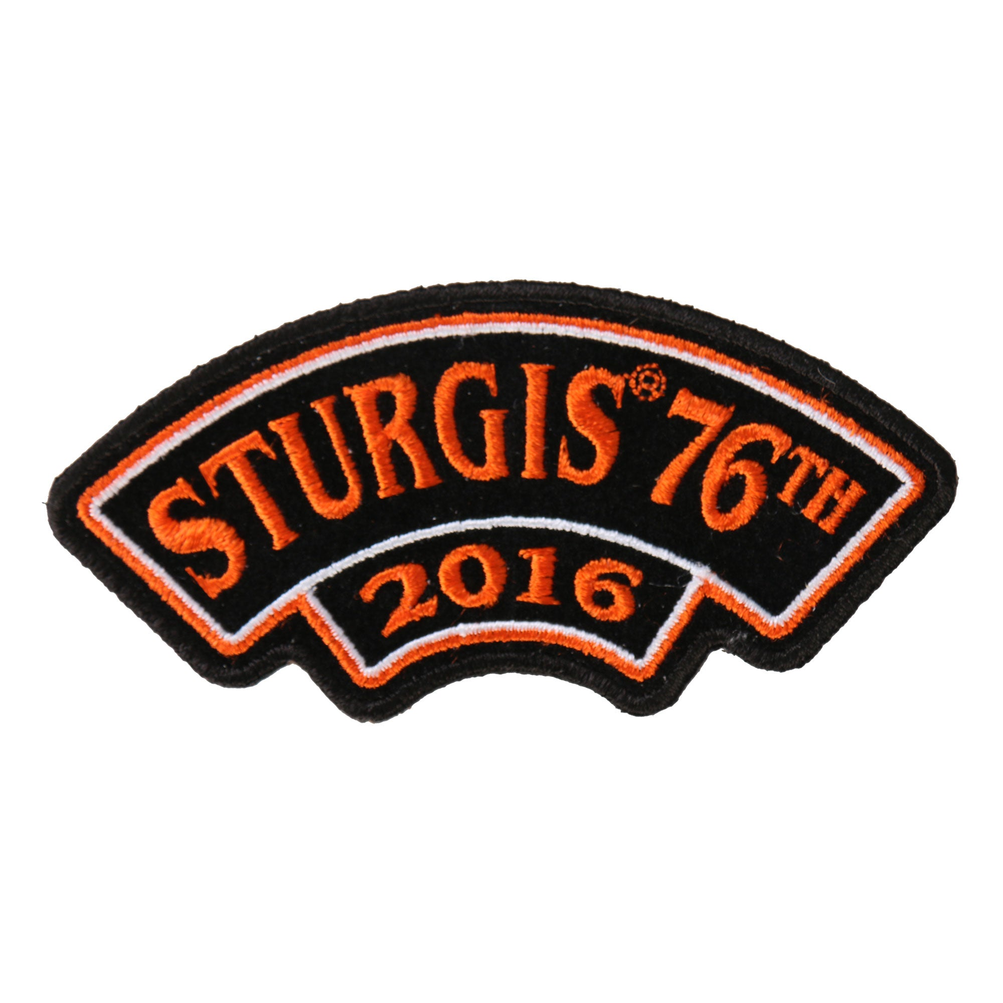 Official 2016 Sturgis Motorcycle Rally Rocker Patch