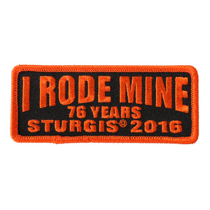 Official 2016 Sturgis Motorcycle Rally I Rode Mine Orange Patch