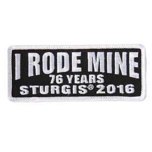 Official 2016 Sturgis Motorcycle Rally I Rode Mine White Patch