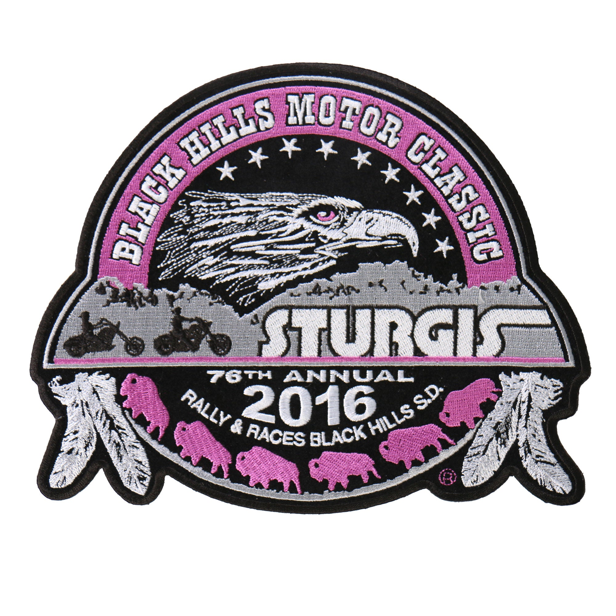 Official 2016 Sturgis Motorcycle Rally Composite Ladies Patch