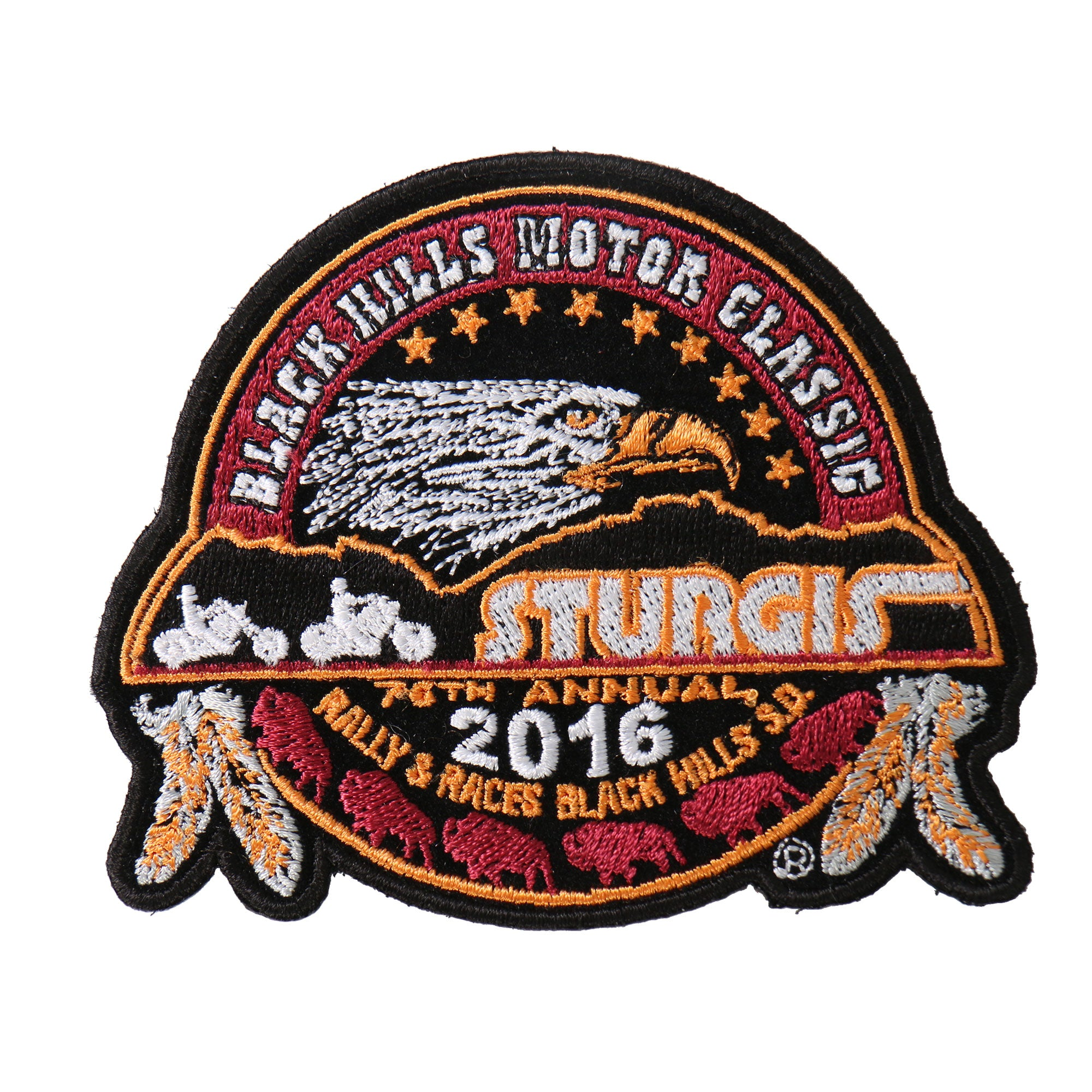 Official 2016 Sturgis Motorcycle Rally Official Composite Patch