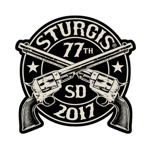 Official 2017 Sturgis Motorcycle Rally Crossed Pistols Patch