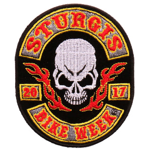 Official 2017 Sturgis Motorcycle Rally Rocker Skull Patch