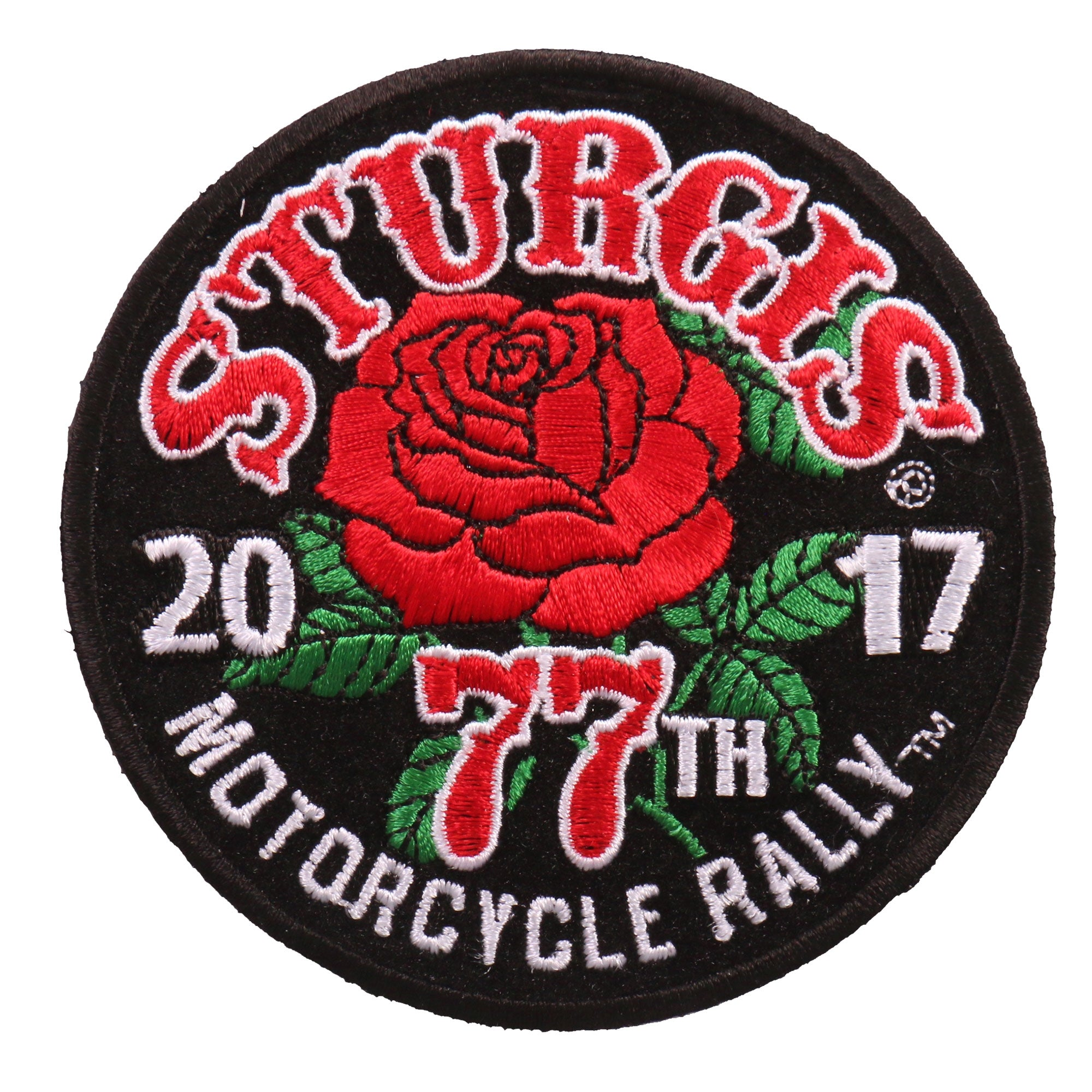 Official 2017 Sturgis Motorcycle Rally Rose Patch