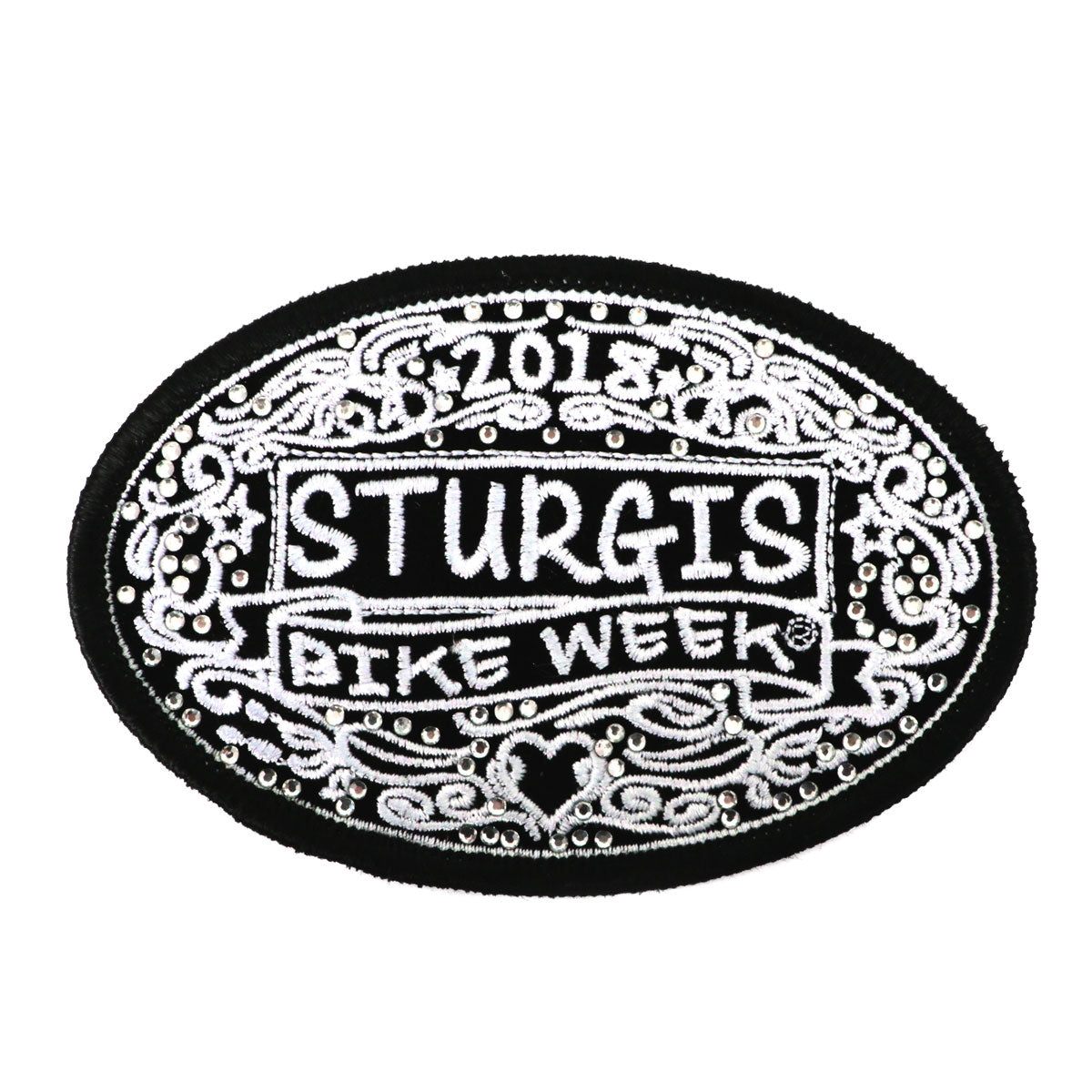 Official 2018 Sturgis Bike Week Chalk Lines Oval Patch
