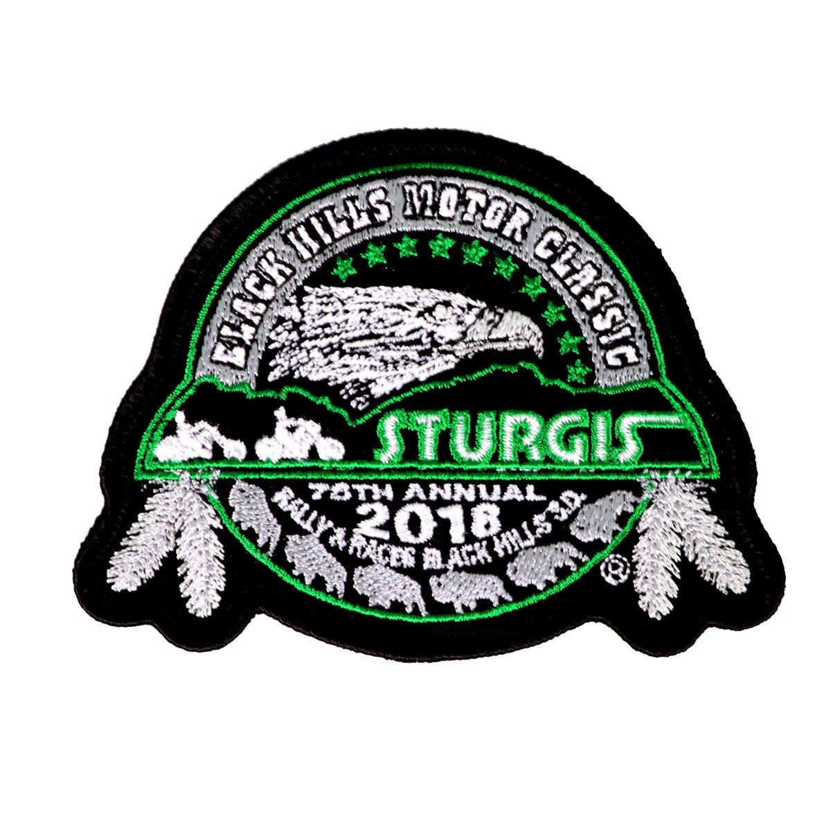 Official 2018 Sturgis Black Hills Rally Eagle Patch