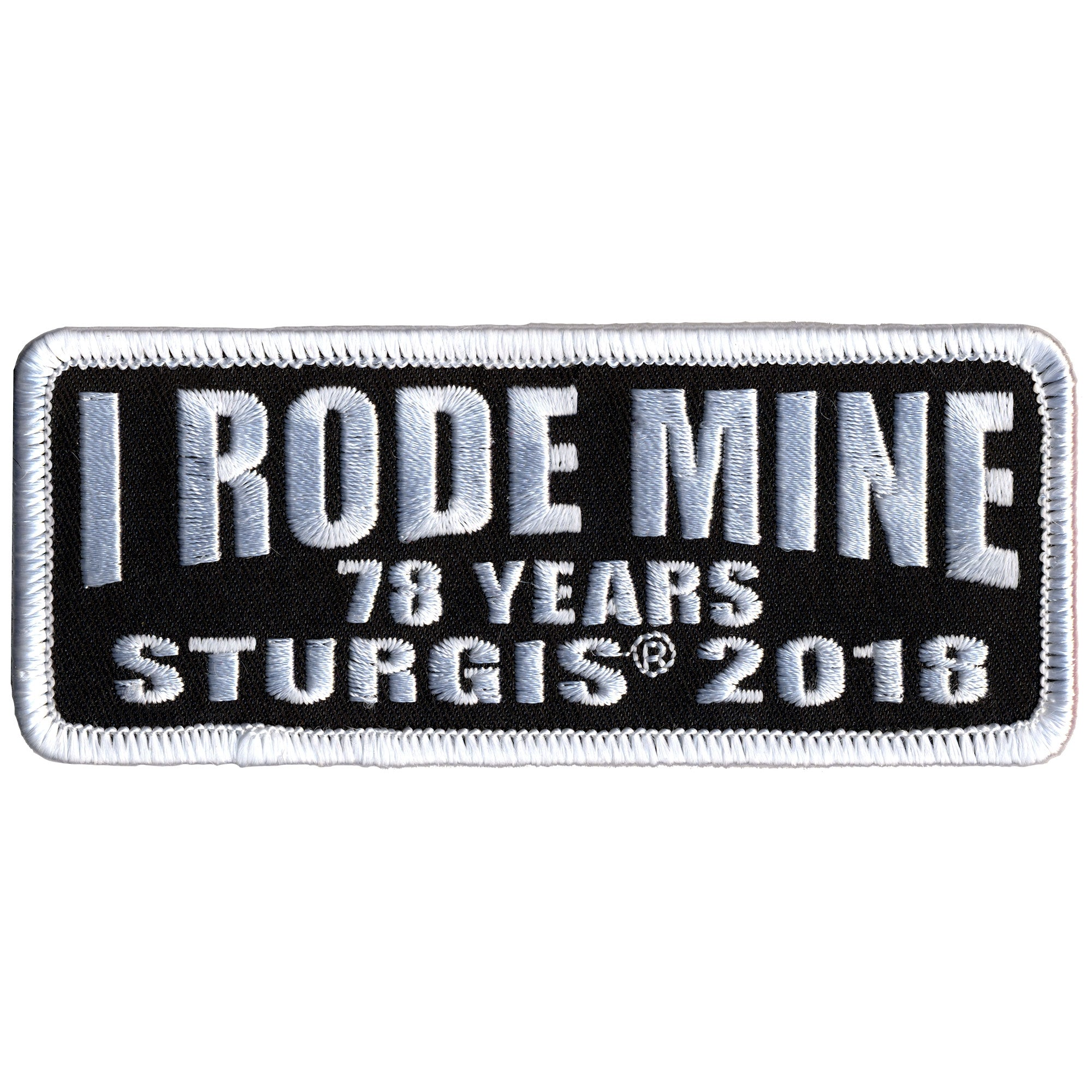 Official 2018 Sturgis Motorcycle Rally I Rode Mine Patch