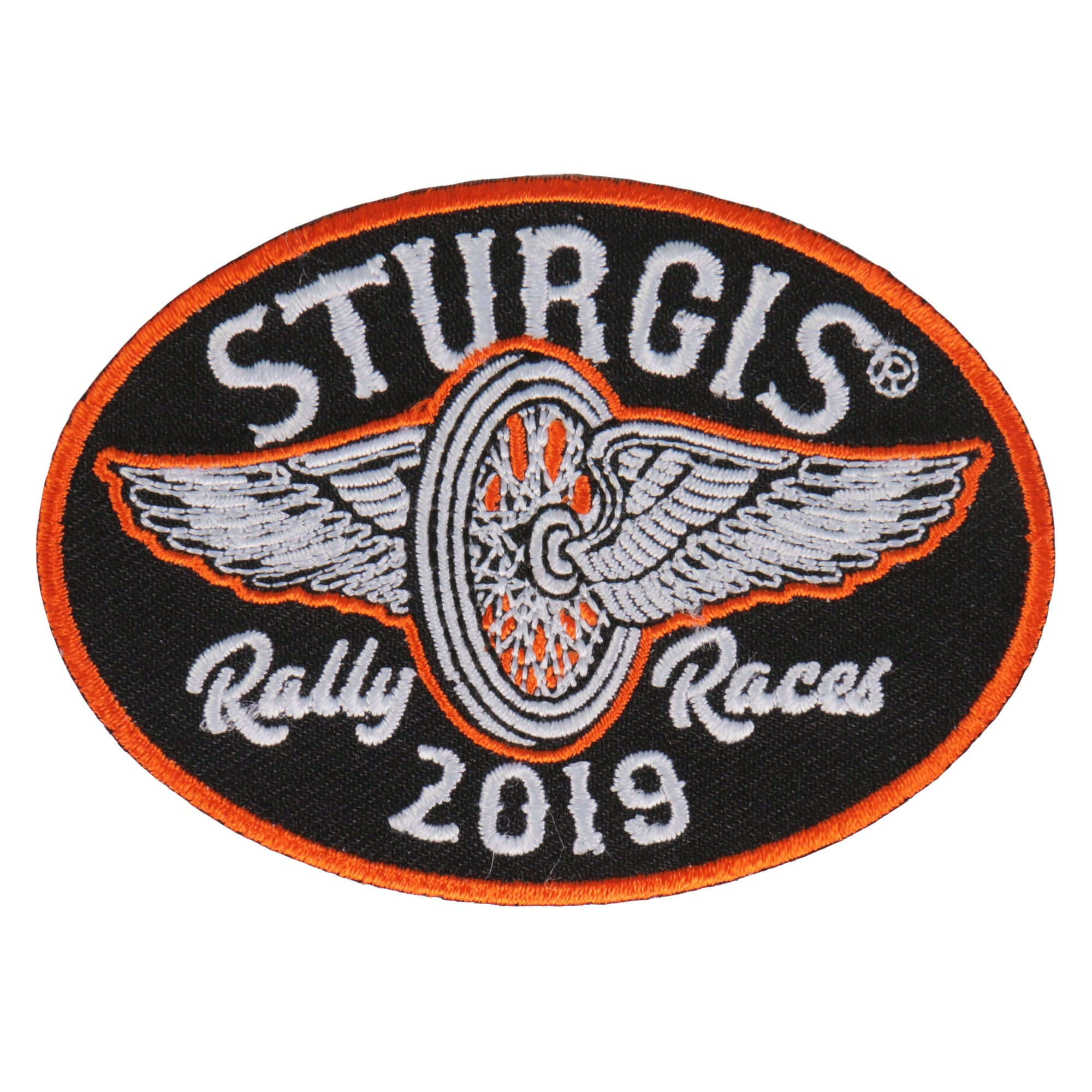 Official 2019 Sturgis Motorcycle Rally Flying Wheel Patch