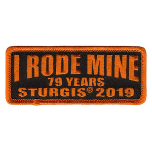 Official 2019 Sturgis Motorcycle Rally I Rode Mine Patch Orange