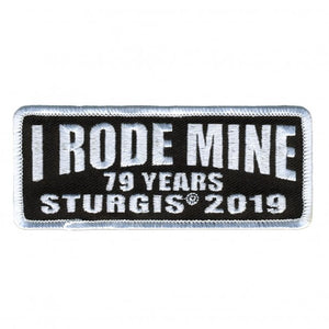 Official 2019 Sturgis Motorcycle Rally I Rode Mine Patch White
