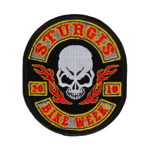 Official 2019 Sturgis Motorcycle Rally Rocker Skull Patch