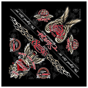 Official 2014 Sturgis Motorcycle Rally Dagger Heart Bandana
