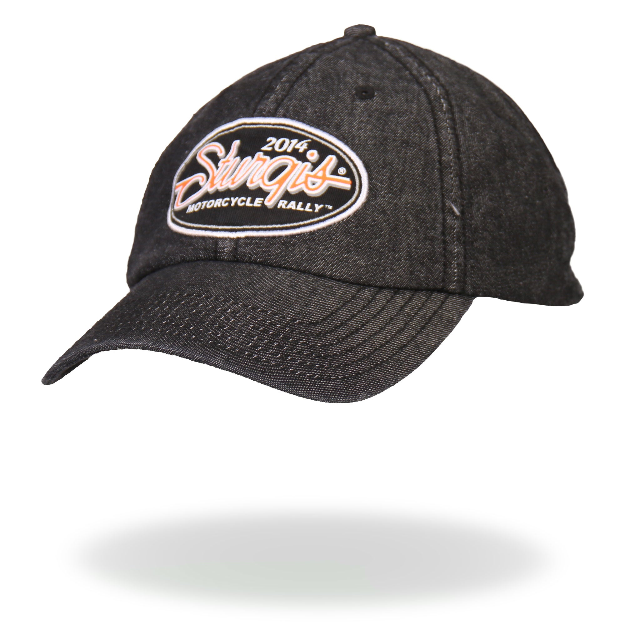 Official 2014 Sturgis Motorcycle Rally Oval Script Ball Cap