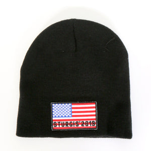 Official 2019 Sturgis Motorcycle Rally American Flag Knit Hat