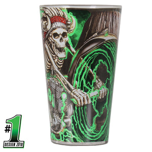 Official 2018 Sturgis Motorcycle Rally #1 Design Skeleton Chief Pub Glass
