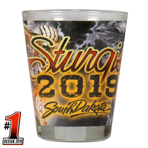 Official 2019 Sturgis Motorcycle Rally #1 Wild West Shot Glass