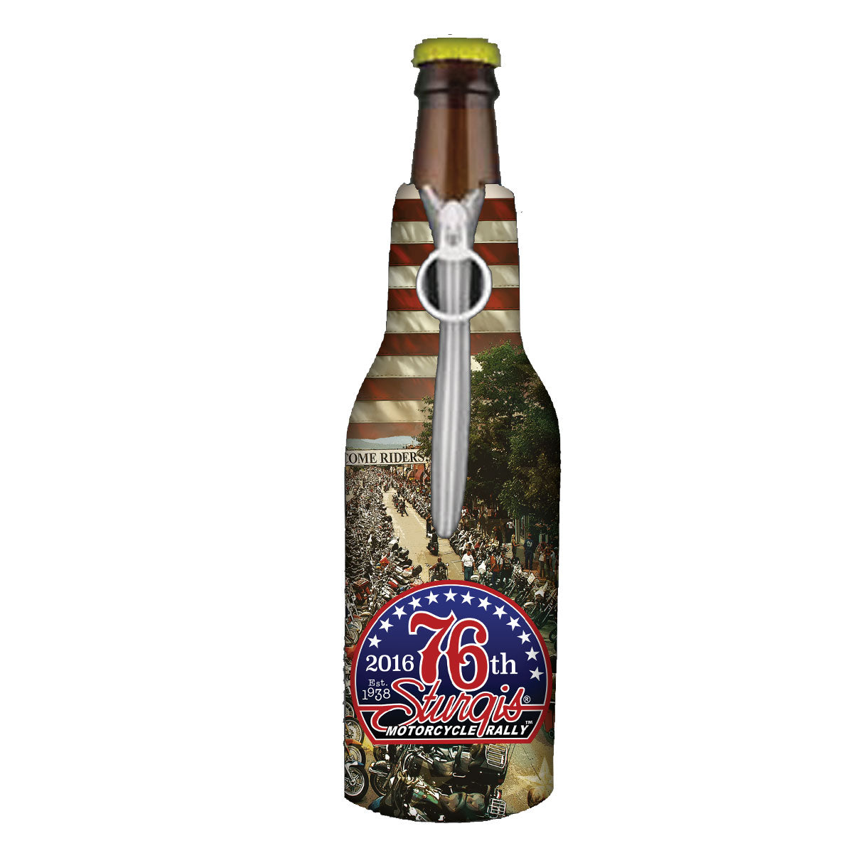 Official 2016 Sturgis Motorcycle Rally Main Street Bottle Wrap